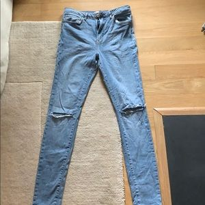 High waisted skinny ripped Forever 21 jeans
